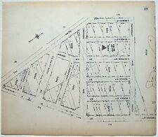 Original 1922 Map of Bergen Beach, Brooklyn - Ralph & Bergen Avenues to Ave L