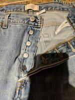 501 Levis Buttonfly 38x30 Jeans Vtg