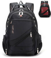 Swiss Men School Backpack 15.6 Laptop Rucksack Bag Travel Notebook Hiking Women