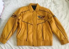 GM Chevrolet Official Product Corvette C5 1997-04 Yellow Leather Jacket Size XL