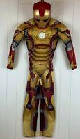 Halloween Costume Marvel Iron Man 3 Jumpsuit Mask Boys Youth 8 Medium M Dress-up