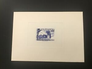 ICOLLECTZONE Paraguay Card Die Proof 1955 Airmail