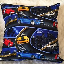 """Cushion Cover 18"""" 46cm Ford Mustang Muscle Car Mustang Pony - Made Australia"""