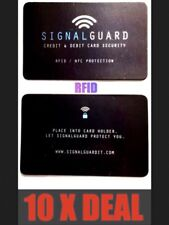 10X Signal Guard Included RFID Wireless Illegal Credit/Debit Card Reader Blocker
