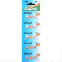 10 x AG1 1.5v ALKALINE BATTERY COIN CELL REMOTE EUNICELL G1 LR60 LR621 SR621W