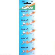 10 X AG1 1.5 V Batería Alcalina Células moneda Remoto Eunicell G1 LR60 LR621 SR621W