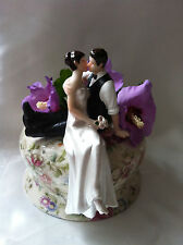 Personalised wedding cake topper SO MUCH IN LOVE Brunet MARIES
