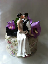 PERSONALIZZATO WEDDING CAKE TOPPER tanto in Love BRUNET Topper sposa e sposo