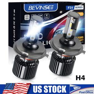 Bevinsee H4 9003 LED Headlight for Nissan Versa 07-19 6000K Hi/Lo Beam Mini Bulb
