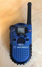 Motorola Talkabout 250 FRS Two Way Radio Walkie Talkie Blue with Scan & Lock