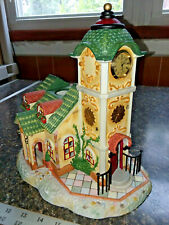 Vintage Exclusive PartyLite Olde World Village Clock Tower Decoration #4