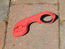 Davanti Staffa Di Montaggio Per Garmin modelli GPS CICLO Edge 20 - 820 Rosso