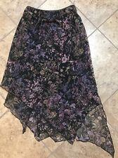 Women's Believe Floral Skirt Size 6 Asymmetrical