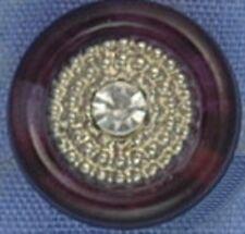 13mm Brown / Silver Shank Button