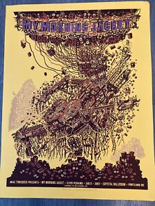 Beautiful SIGNED My Morning Jacket 2007 Portland Guy Burwell Poster 195/225