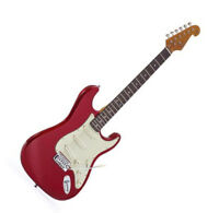 SX ELECTRIC GUITAR STRAT SHAPE 3/4 SIZE RED SOLID BODY FREE GIG BAG & DELIVERY