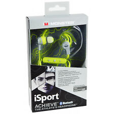NEW Genuine Monster iSport Achieve In-Ear Bluetooth Headset Wireless Headphones