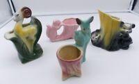 4 USA Pottery Animal Planters