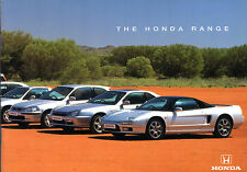 Honda 1997-98 UK Market Brochure Civic CRX Accord Prelude Legend Shuttle NSX CRV