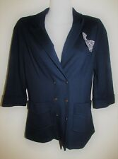 HI THERE from KAREN WALKER Navy Blue 3/4 Sleeve Jacket Size 6 Small S