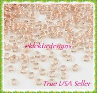 4mm 100pcs Lt Rose Gold Jump Rings Jewelry Findings Open Split Earring Necklace