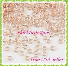 4mm 100pcs Lt Rose Gold Jump Rings Jewelry Findings Open Split Earring Necklace