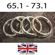 Forged Aluminium Spigot Rings Set Of 4 73.1 - 65.1 Suit 5 Stud Vauxhall VW T5 T6