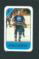 vintage GLENN ANDERSON edmonton oilers POST CEREAL mini card