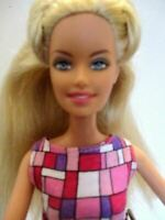 Barbie doll long blonde hair Pink barbie dress & Pink high heels