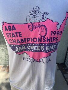 vintage aba bmx championship 1990 shirt CA roseville single stitch m