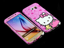 for Samsung Galaxy S6 G920 Pink Hello kitty Front + back Case cover Defender