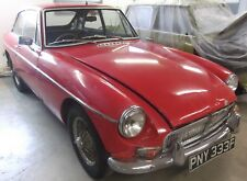 MGB GT Early Chrome bumper model  1967 with overdrive