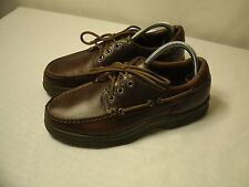 DOCKERS BROWN LEATHER LACE-UP BOAT SHOES / SIZE US 7.5 / EUR 40 MEN'S