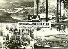 """!!! Sosa (Erzgebirge), tolle Karte d. Konsumgaststätte """"Meiler"""" an der Talsperre"""