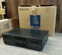 Sony TC-WR531 Stereo Dual Cassette Player Vintage VTG in Original Box