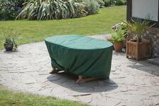 TEAK PATIO GARDEN FURNITURE COVERS FOR DEAUVILLE OVAL STACKING SET