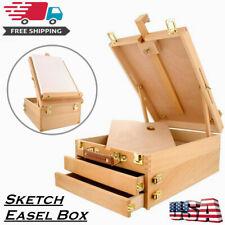 3-Drawer Portable Art Adjustable Artist Beech Wooden Tabletop Sketch Easel Box