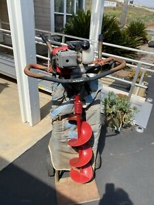 Earthquake E43 cc Earth Auger Powerhead With 8 in. Auger Bit Used