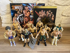 WWE WWF 24 Wrestling Figures And 3 Annual Books Including 50th Anniversary Toys