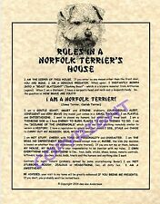 Rules In A Norfolk Terrier's House