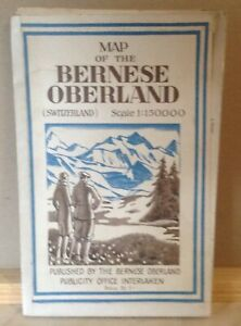 VINTAGE MAP OF THE BERNESE OBERLAND
