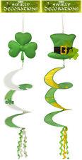Fancy Dress Irish Ireland Shamrock Eire St Patricks Day Swirly Decorations x 2