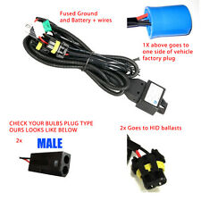 9007/HB5 BI-XENON HID RELAY WIRING HARNESS W/ FUSE (Fits Bixenon Bulbs Only)