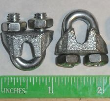 "Cable Clamps U-Bolts 50pk 3/16"" Clamps Steel Aircraft Cable Wire Clip U Bolt"