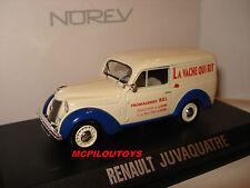 NOREV RENAULT JUVAQUATRE LA VACHE QUI RIT 1952 SUCCURSALE DE LYON  au 1/43°
