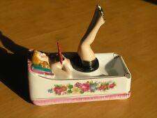 Vintage Occupied Japan Japanese Hand Painted Pinup Porcelain Nodder Ashtray