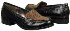 Sofft Fondah loafer black leather suede 6 Md NEW