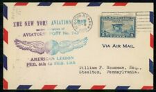 US 1929 American Legion Aviators Post 743 Aviation New York Cover wwh31027