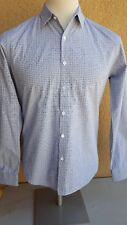THEORY Men's Multi-color Gray Checks Cotton Button Front LS Shirt S China