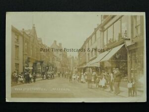 Staffordshire UTTOXETER High Street c1905 RP Postcard by A. McCann (Local)